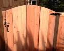 Picture Frame Redwood Board on Board fence & gate