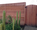 Horizontal Board Redwood Fence and Gate