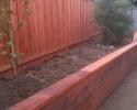 Redwood Retaining Wall