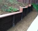 Pressure Treated Retaining Wall